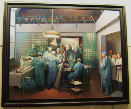The First Successful Kidney Transplantation, Dec 23 1954 - Art by Joel Babb (1996)