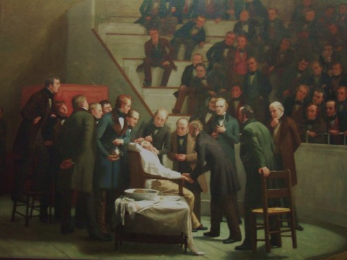 The First Operation under Ether in 1846, Art by Robert C. Hinckley (1886)