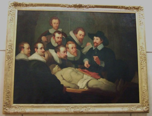 Anatomy Lesson of Doctor Nicolaes Tulp, A copy of a 1632 Rembrandt painting (Artist unknown)